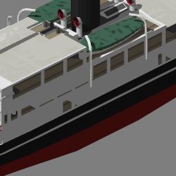 船舶アドオンのできるまで その2 3dモデルの制作と画像の出力 Simutrans 米代川造船所